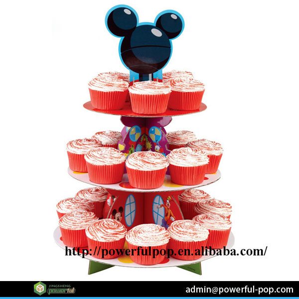 Mickey Mouse Cardboard Paper Birthday Cake Stands With Imperial