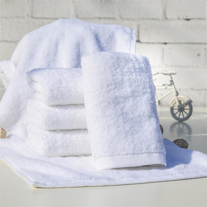 wholesale Bulk thin men used good morning wash hand chamois white towel