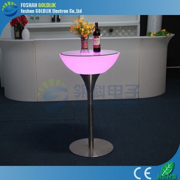 light up coffee table/light up cocktail table/light up bar cuboid