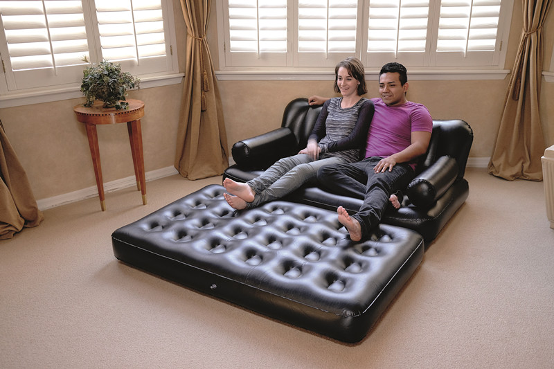 75056 Double 5-In-1 Multifunctional Couch Air furniture Sofa Inflatable PVC Sofa Bed
