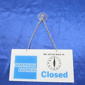 Printing acrylic door sign plate with chain and suction cup