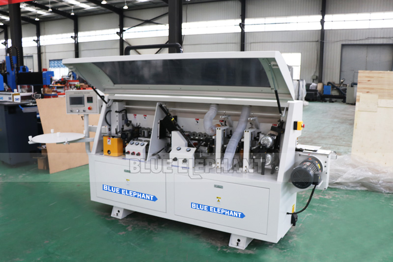 edge banding machine line with pre milling and solid wood corner rounding for  door