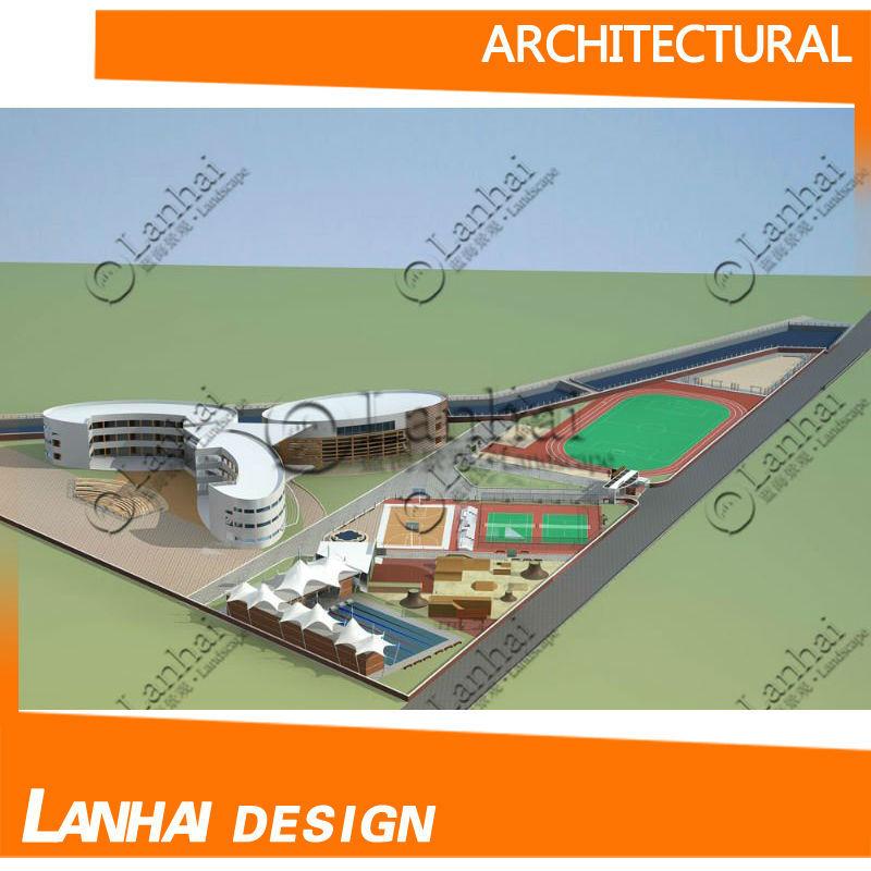 Architecture Plan Factory Building Design