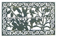 cast iron door mat with hummingbird design