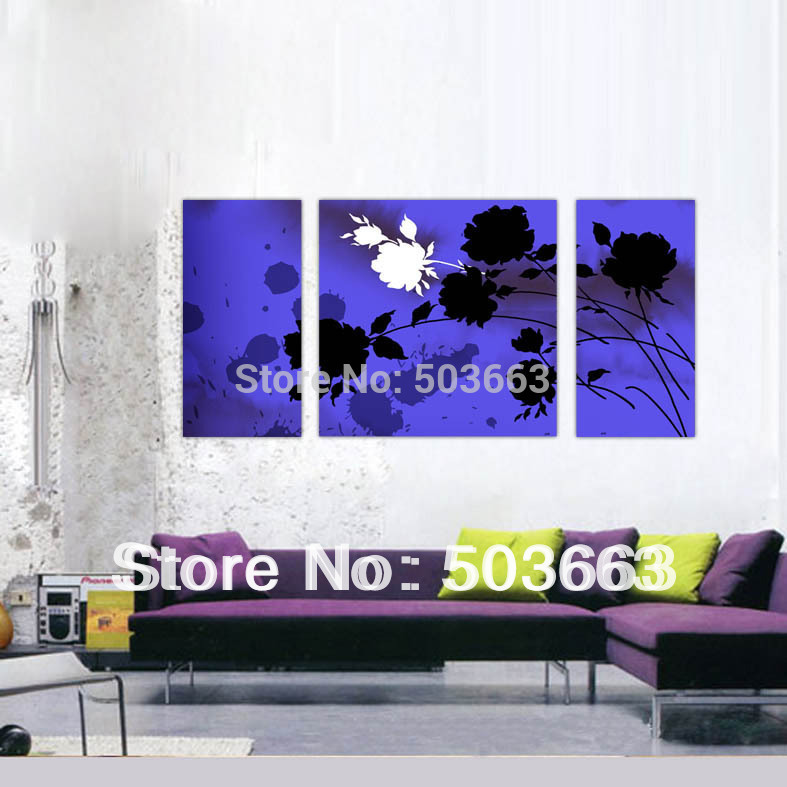 <font><b>Elegant</b></font> Flower 30x60x2 60x60x1 3 Pcs Hand-painted Wood Wall Art Lilies <font><b>Home</b></font> <font><b>Decoration</b></font> Landscape Oil Painting On Canvas H-035