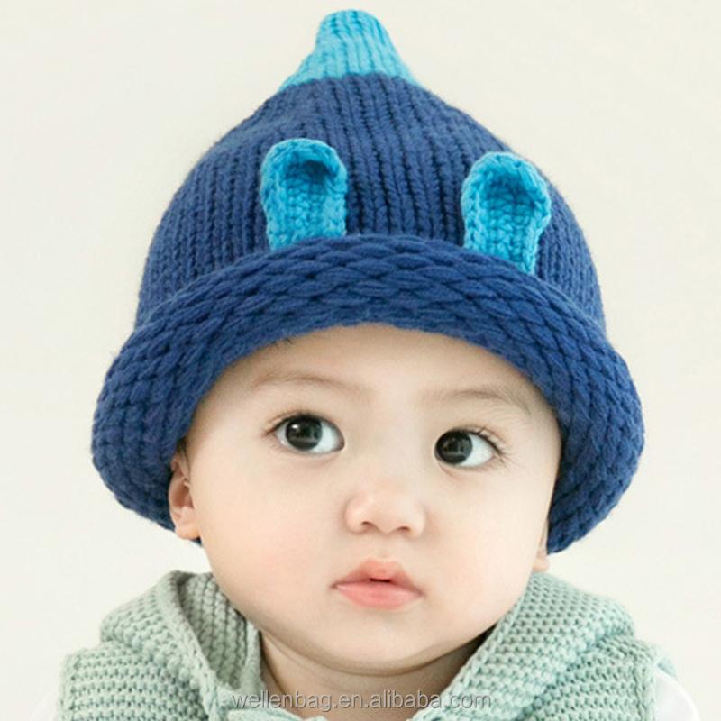 Nova moda inverno gorro para o bebê por atacado bonito crochet crianças  chapéu feito malha e88e9b65cd4