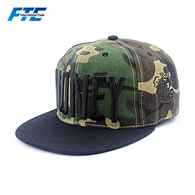 Fashion Snapback Hat Wholesale China Camouflage Distress Snapback Hat