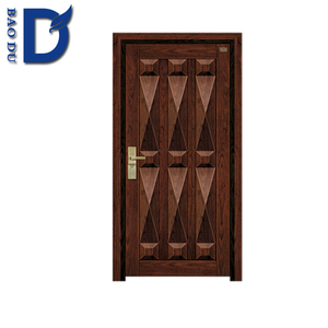 Alibaba hot sale front entry iron new design steel armored antique wood door