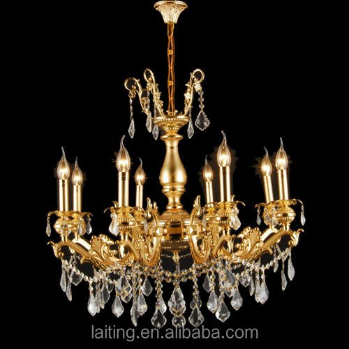 New crystal zinc alloy chandelier for deco