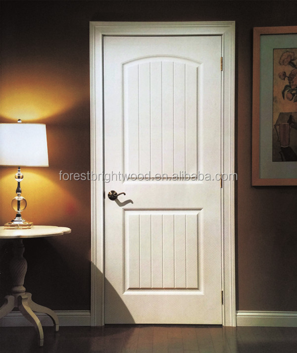 White Primer Moulded Door Interior Arched Top Wooden Door Supplier