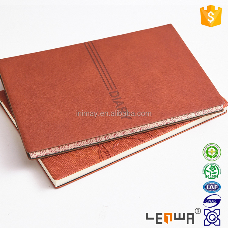 A5 Leather Cover Day To Page Executive Diary Notebook