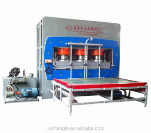 Melamine board 1600T plywood hot press machine for MFC/MDF/PB/HPL production for wood door furniture