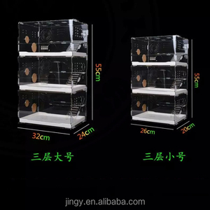 3 tiers luxury pmma plexiglass hamster cage acrylic pet reptile cage