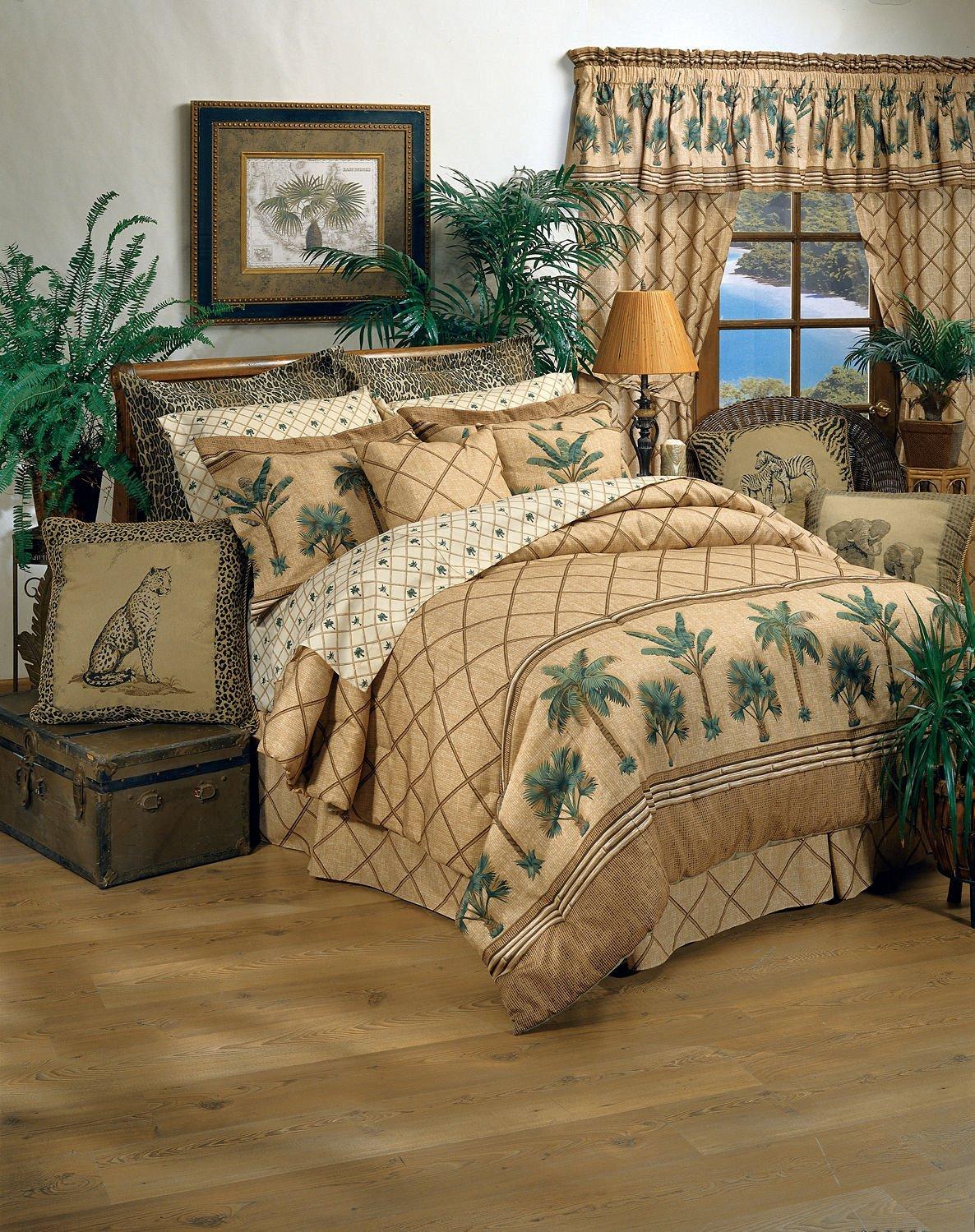 Get Quotations Kona Tropical Bedding 8 Pc Queen Comforter Set 1 Flat Sheet