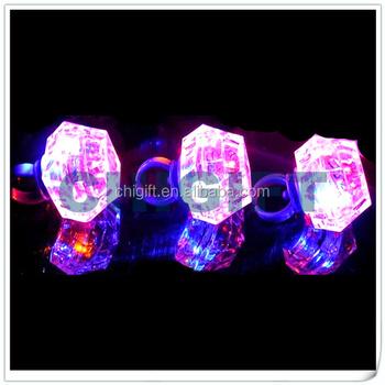 Plastic Diamond Ring Party Decorations Led
