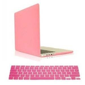 "Candance(TM)Pink Hard Case Cover for Newest MacBook Pro 15"" with Retina Display A1398 Pro 15.4-inch/Pink Frosted Matte Surface Crystal Hard Shell Case for Newest MacBook Pro 15"" with Retina Display A1398 Aluminum Unibody with Keyboard Silicone Cover Skin Stickers Protector and screen protector"