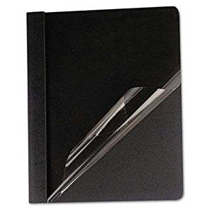 """Universal - Clear Front Report Cover Tang Fasteners Letter Size Black 25/Box """"Product Category: Binders & Binding Systems/Report Covers & Pocket Portfolios"""""""