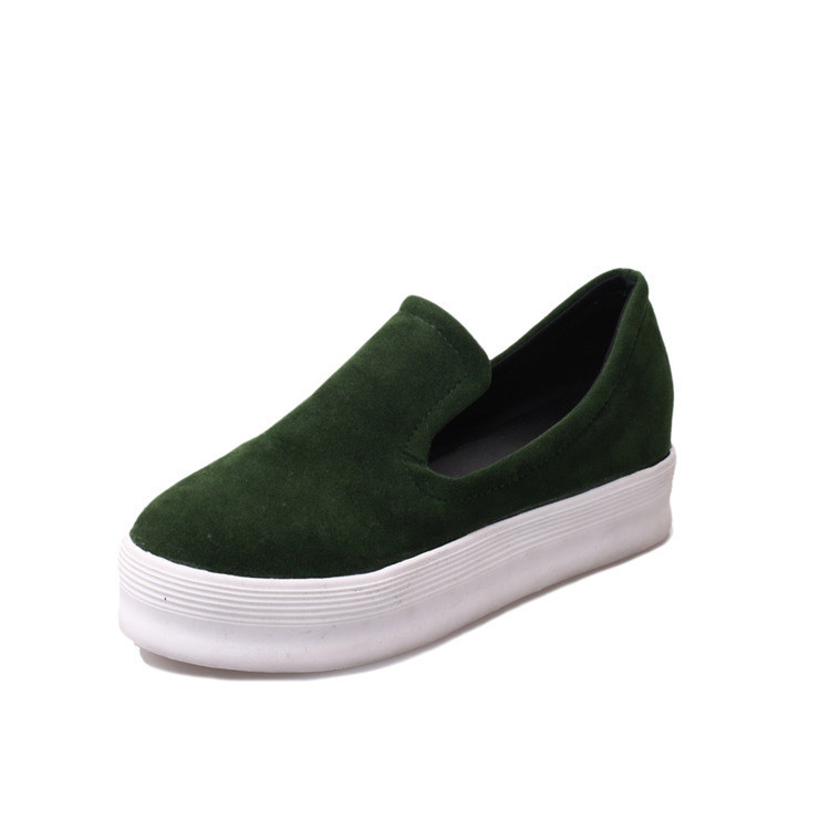 Fashion Women Shoes 2015 Faux Suede Womens Flats Platform Slip On Womens Creepers Casual Comfort Ladies Shoes Wholesales