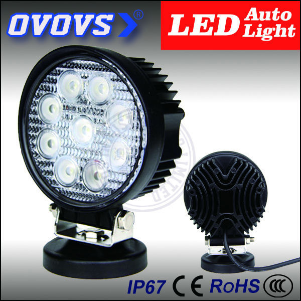 OVOVS round led licht driving light 27w luz led para autos