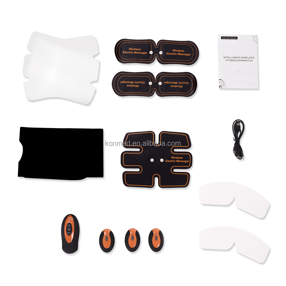 Belly Pad and 2 Arms muscle pads Hot Selling Belly Muscle Beauty Body Shape Muscle Stimulator Device