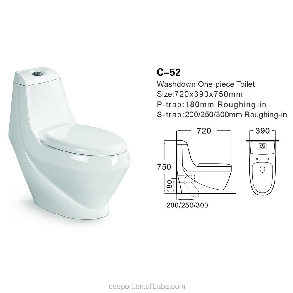 Farbige wc schüssel günstige one stück toilettenraum washdown s trap