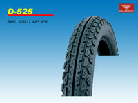2014 new china motorcycle rear tire 2.50-17 6PR
