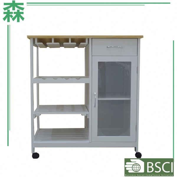 Yasen Houseware Custom Made Cabinets Kitchen Multiple layer Flooring Display Stand Drawer Trolley