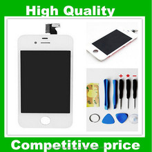Black and White Color LCD Display+Touch Screen Digitizer Panel +Holder Assembly For iphone4 4g 4gs