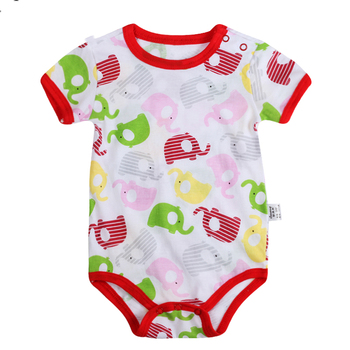 2019 Wholesale Printed Baby Clothes, Newborn Baby Romper,Organic Cotton Baby Romper