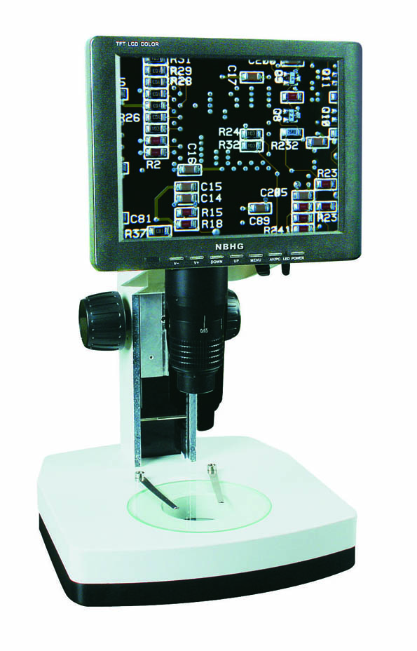 "LCD-550-W 0.7X-5.5X zoom Digital Microscope with 8"" LCD screen for PCB inspection, LCD screen stereo microscope"