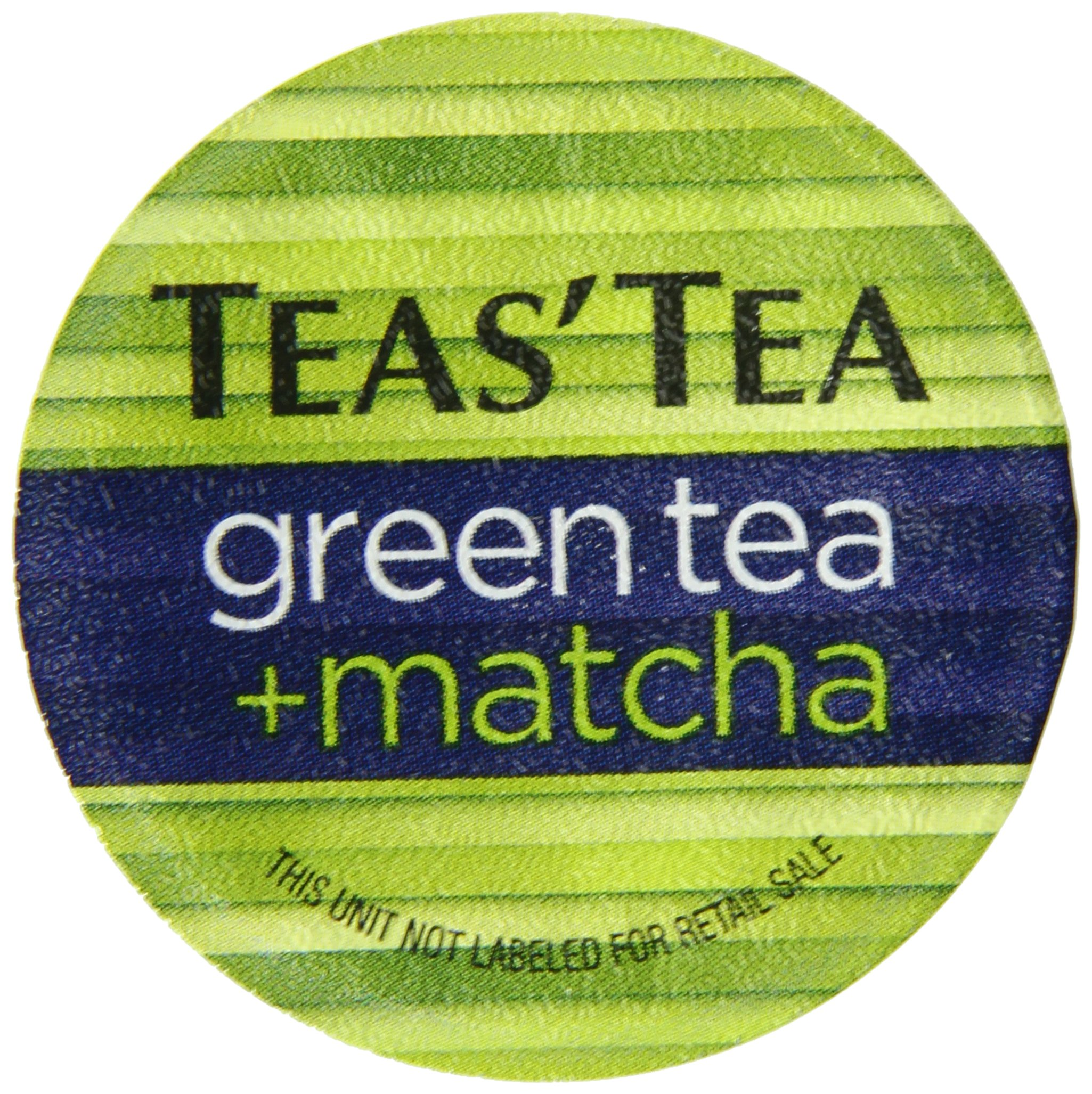 Teas' Tea Green Tea Plus Matcha, Single Serve Cups, (Pack of 12), Organic, Zero Calories, No Sugars, No Artificial Sweeteners, Antioxidant Rich, High in Vitamin C