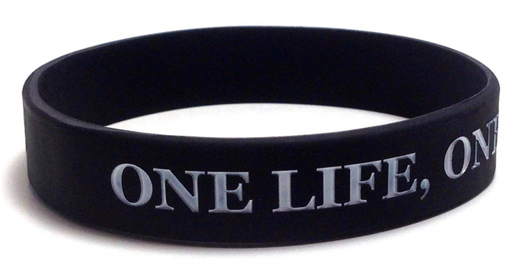 Customized cool sports rubber silicone wristband