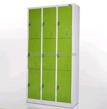Cheap Wardrobe Cabinets/9 Door Metal Locker/bedroom Hanging ...