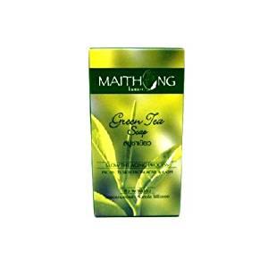 6 X Maithong Green Tea Natural Anti-oxidant Anti-aging Acne Blemish Herbal Soap