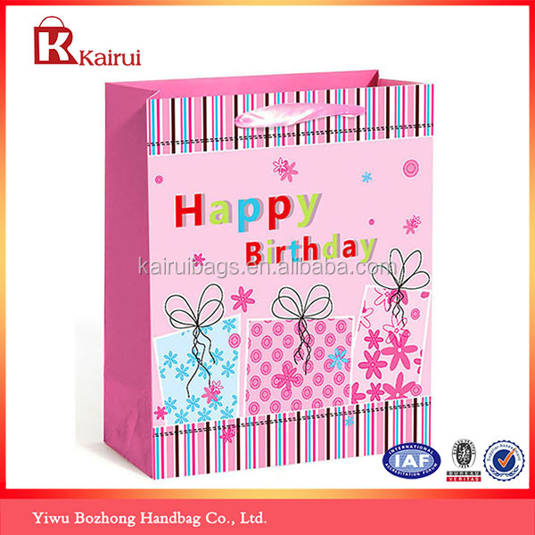 Paper Gift Best Wishes Images Party Goody Hand Bags For Birthday