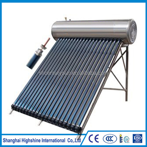 All Stainless Steel 10 tubes /150 liter heat pipe pressurized solar water heater for project