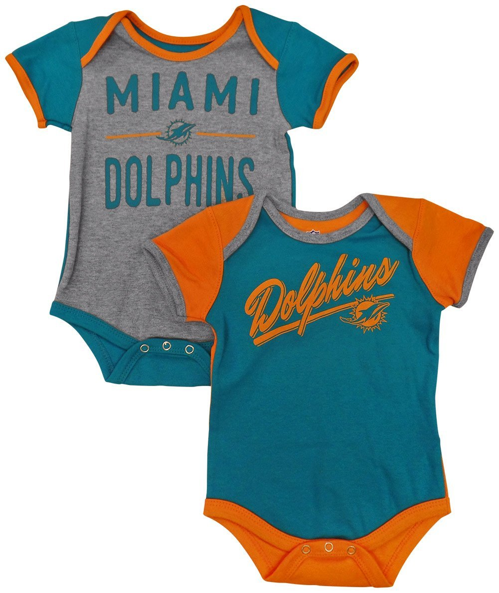 "Miami Dolphins Baby / Infant ""Descendant"" 2 Piece Creeper Set"