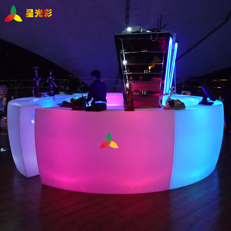 Decorative Lighting  Rechargeable	 Led  corner bench	Luminous 	coffee shop	for retail	Multipurpose