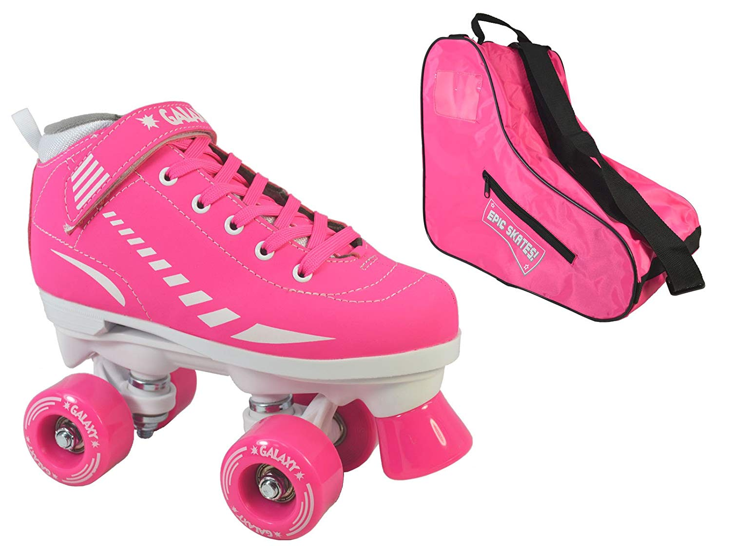 Epic Skates Epic Pink Galaxy Elite Quad Roller Skate 3-piece Bundle 3