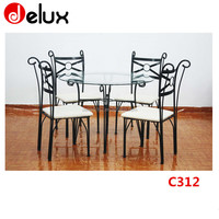 fashion design out door glass dining table C312