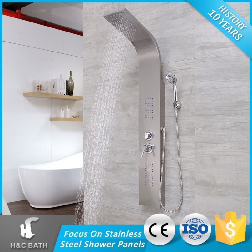 Top Cl Steel Comfortable Style Selections Shower Panel With Rainfall Head