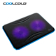 2018 2 Fan USB Blue LED Light PC CPU Laptop Notebook Cooling Cooler Pad