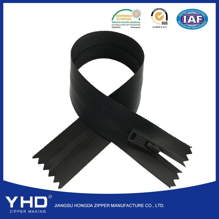 High Quality Black color 3# Waterproof Zipper For Pockets