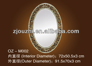 decorative polyurethane oval mirror frame