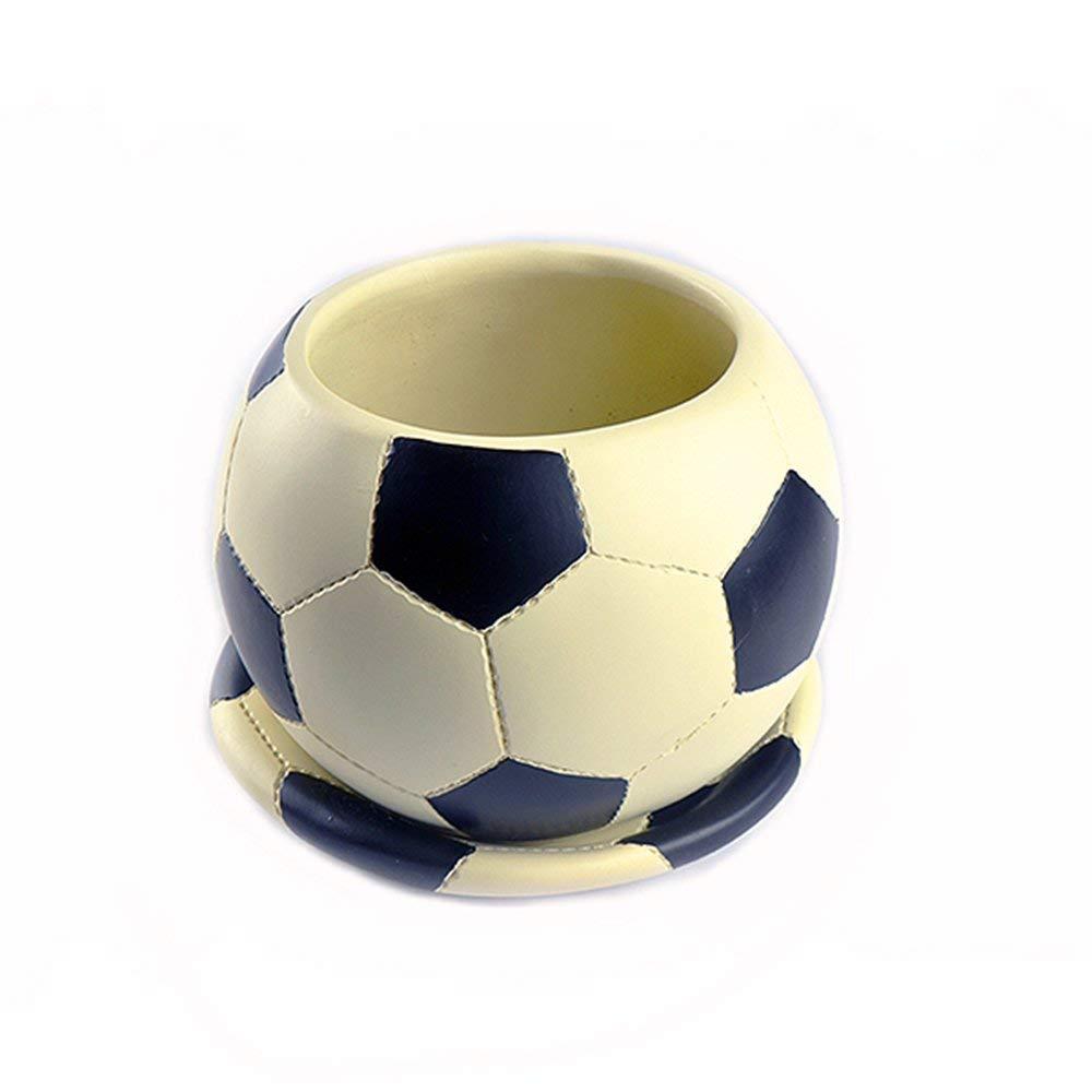 Polystone Soccer Ball Planter