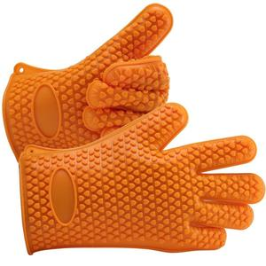 Heat resistant kitchen gloves silicone oven tools pot holder set