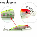 1pcs lot 11cm Hard Fishing Lure Sea Fishing tackle Minnow Hard Bait 3D Fish Eye Shallow