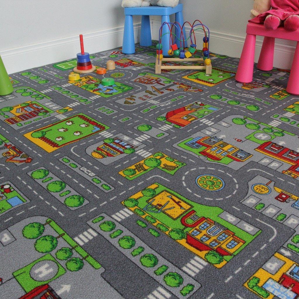 Get Quotations Childrenu0027s Play Village Mat Town City Roads Area Rug 200cm X