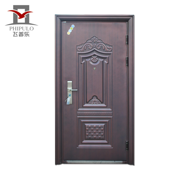 Latest Design Hot Sale Two Panel Iron Door For Exterior Metal Door Made In  China