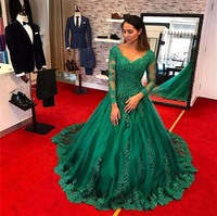 Emerald Green DuBai Online Shopping Imported Women Formal long Evening Dresses for Ladies